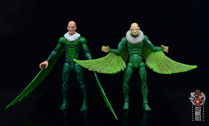 marvel legends vulture figure review - scale with toy biz vulture