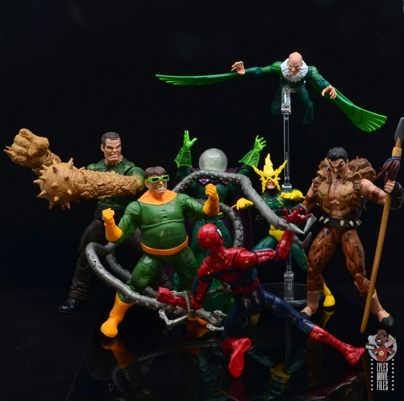 marvel legends vulture figure review - sinister six has spider-man beaten