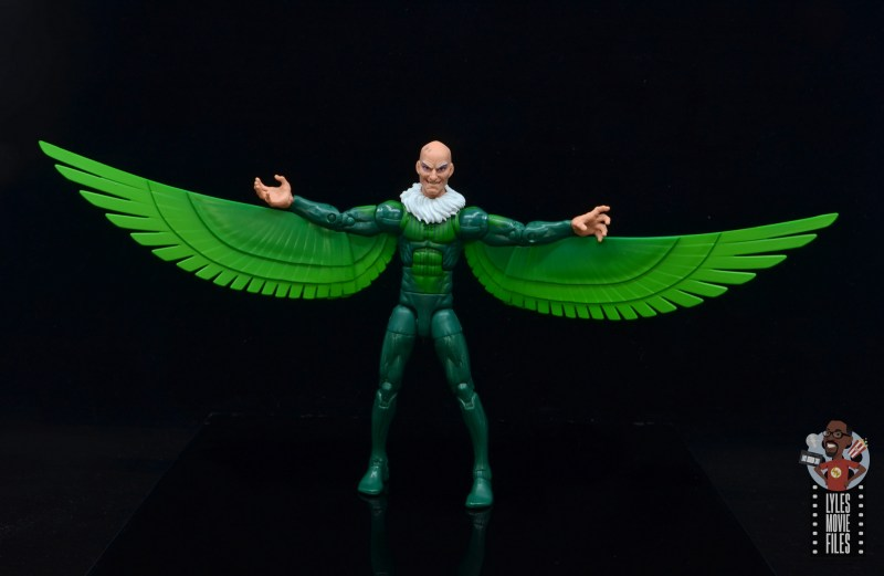 marvel legends vulture figure review - wings spread