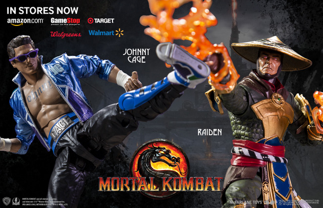 mcfarlane toys mortal kombat 11 figures - johnny cage and raiden