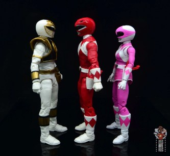 power rangers lightning collection red ranger figure review -facing white and pink ranger