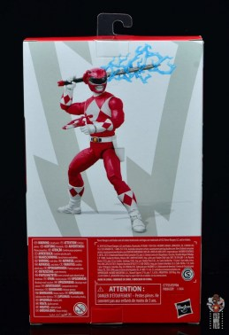 power rangers lightning collection red ranger figure review - package rear