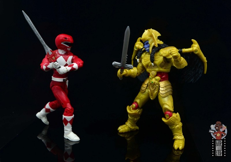 power rangers lightning collection red ranger figure review - vs goldar