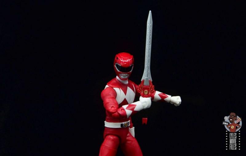 power rangers lightning collection red ranger figure review - wide sword shot