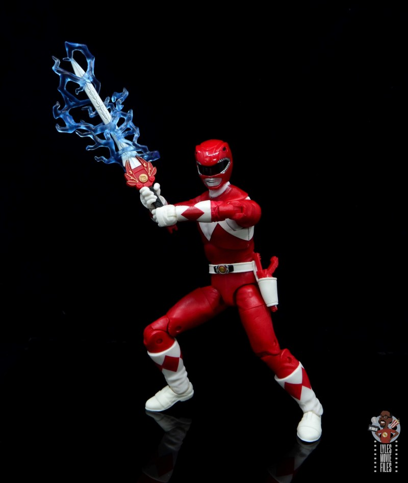power rangers lightning collection red ranger figure review - with blazing sword