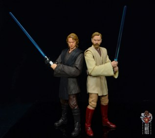 sh figuarts obi-wan kenobi revenge of the sith figure review - back to back with anakin