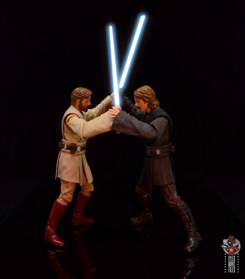 sh figuarts obi-wan kenobi revenge of the sith figure review - vs anakin