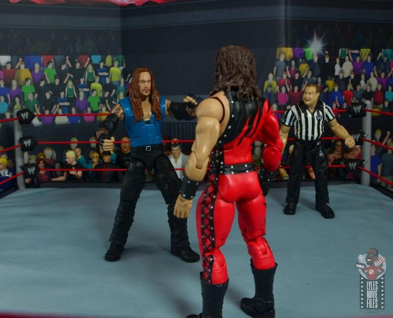wwe elite 68 american badass undertaker figure review - facing off with kane