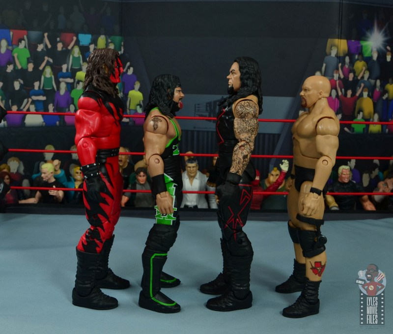 wwe hall of champions undertaker figure review - facing kane, x-pac and stone cold steve austin