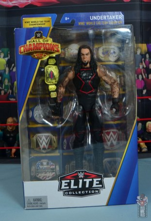 wwe hall of champions undertaker figure review - package front