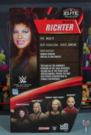 wwe network spotlight wendi richter figure review - package rear