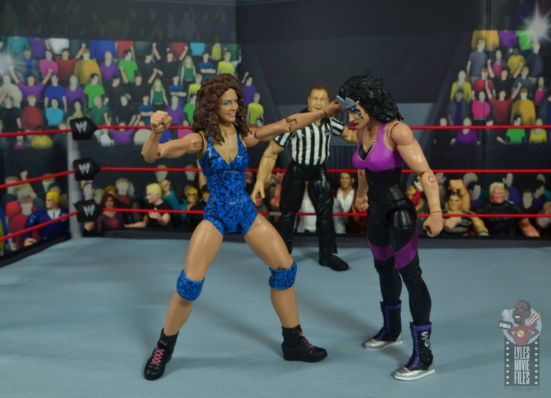 wwe network spotlight wendi richter figure review - punching sherri martel