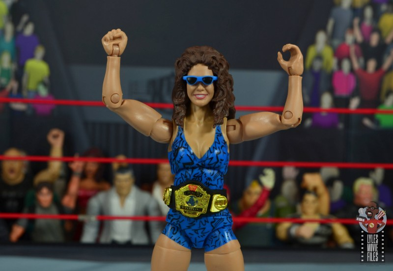 wwe network spotlight wendi richter figure review - with sunglasses and women's title