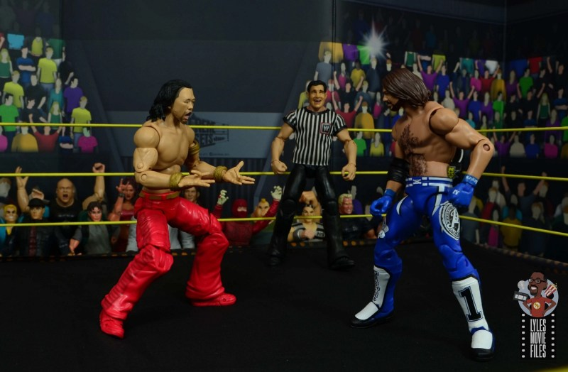 wwe ultimate edition shinsuke nakamura figure review - calling out aj styles