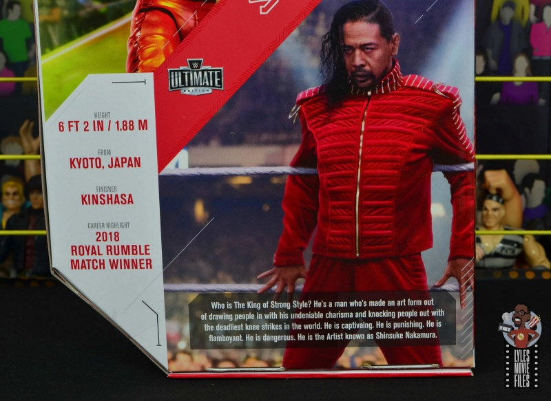 wwe ultimate edition shinsuke nakamura figure review - package bio