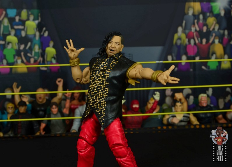 wwe ultimate edition shinsuke nakamura figure review - wearing defining moments figure vest