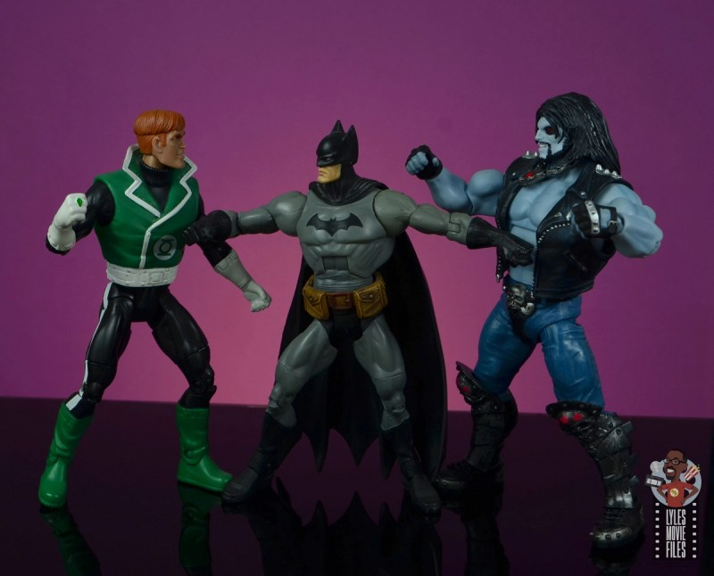 dc multiverse lobo figure review - trying to fight guy gardner