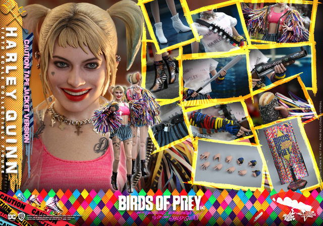 hot toys birds of prey harley quinn figure - collage