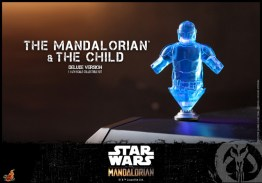 hot toys the mandalorian and the child deluxe figure set - hologram