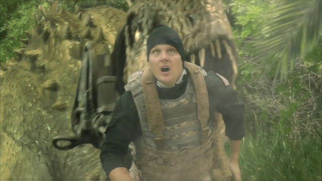 jurassic thunder movie review - running from the dinos