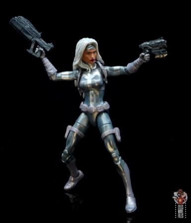 marvel legends silver sable figure review - guns out