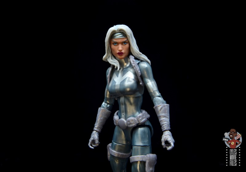 marvel legends silver sable figure review - wide shot