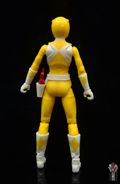 power rangers lightning collection mighy morphin yellow ranger figure review - rear