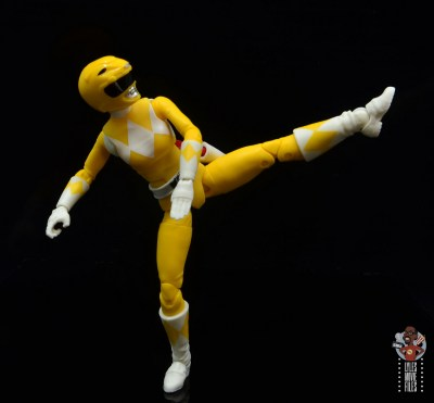 power rangers lightning collection mighy morphin yellow ranger figure review - side kick