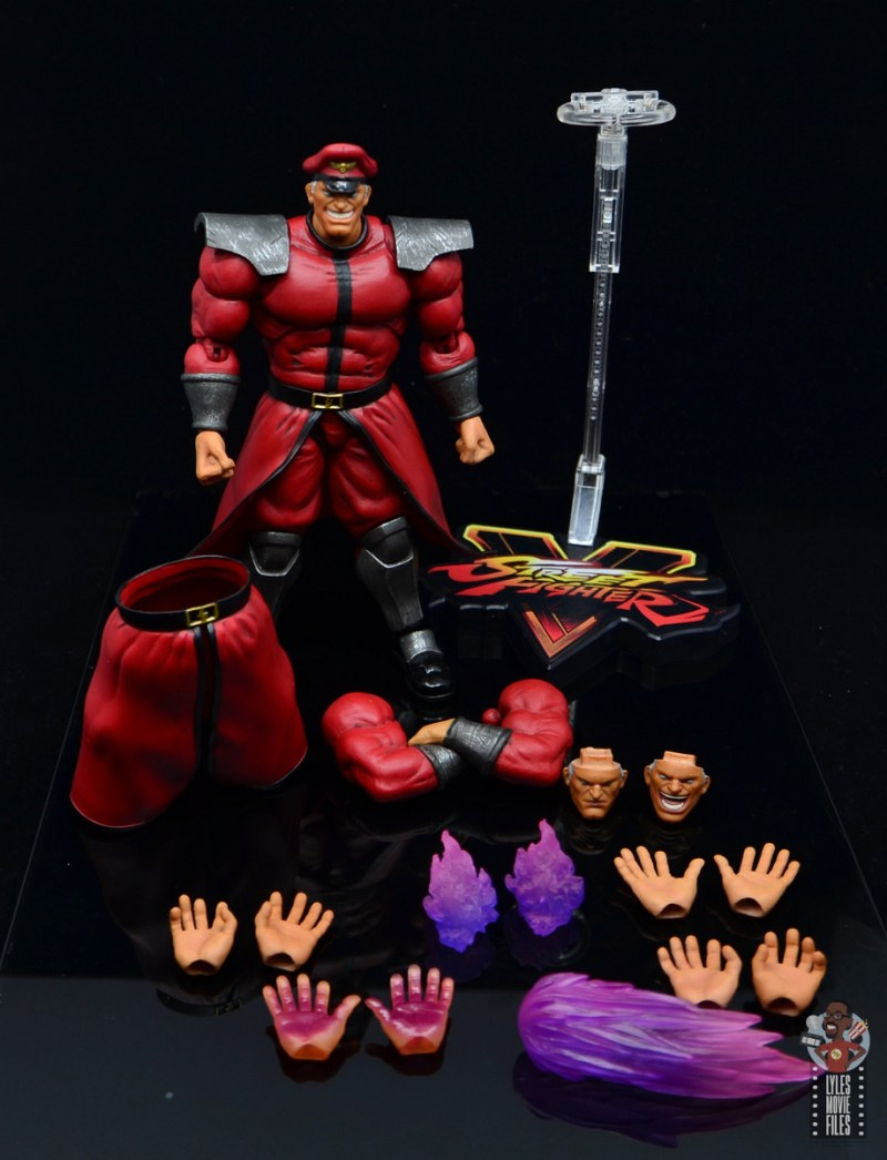 storm collectibles street fighter m. bison figure review - accessories out
