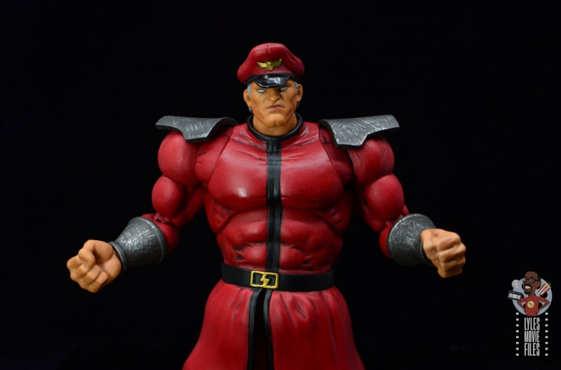 storm collectibles street fighter m. bison figure review -arms out