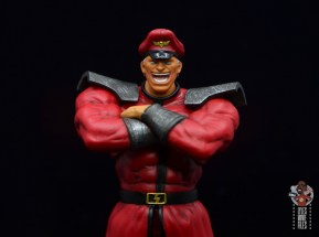 storm collectibles street fighter m. bison figure review - laughing headsculpt