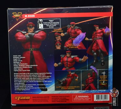 storm collectibles street fighter m. bison figure review - package rear