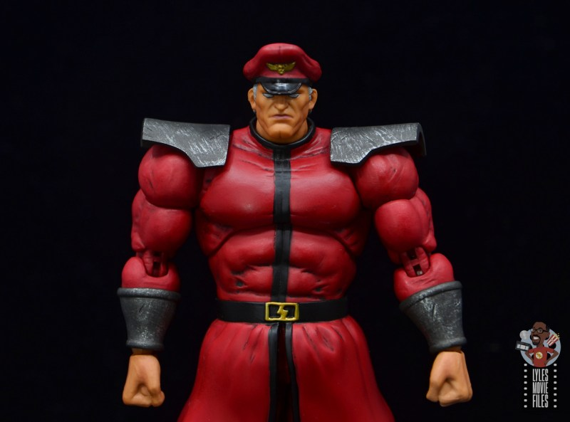 storm collectibles street fighter m. bison figure review - wide shot