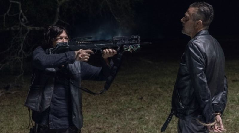 the walking dead look at the flowers - daryl and negan