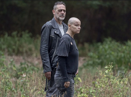 the walking dead walk with us review -negan and alpha