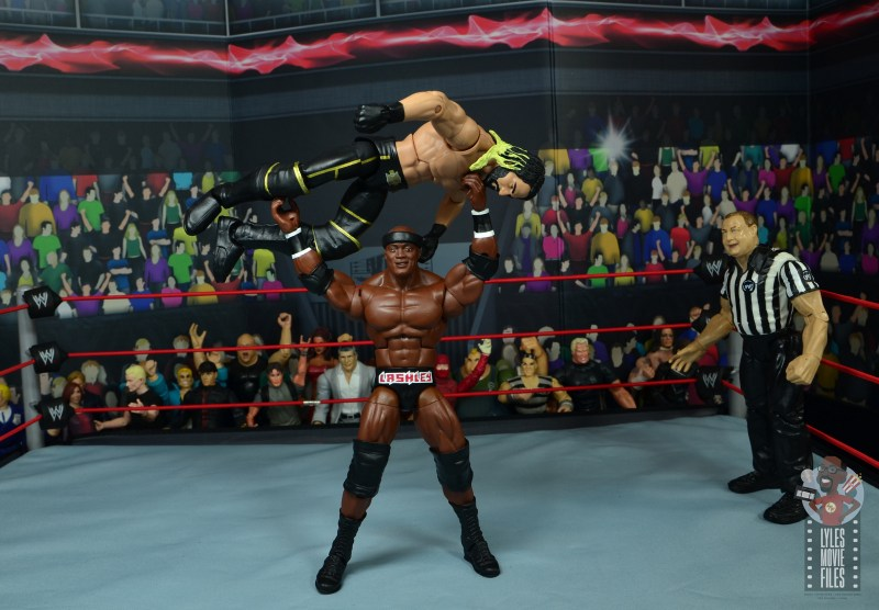wwe elite 69 bobby lashley figure review - press slam to seth rollins