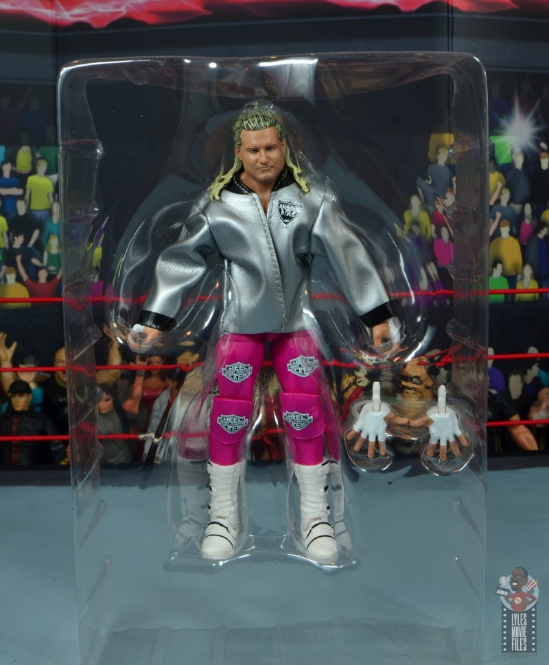 wwe elite 70 dolph ziggler figure review - accessories in tray