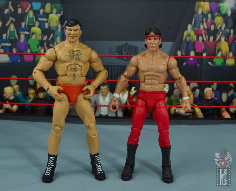 wwe elite gerald brisco figure review -scale with ricky steamboat