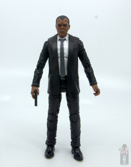 marvel legends captain marvel nick fury figure review - front