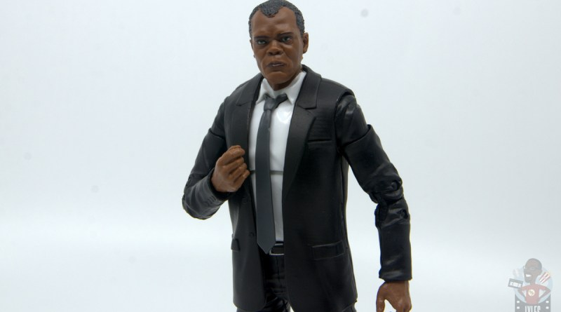 marvel legends captain marvel nick fury figure review - main pic