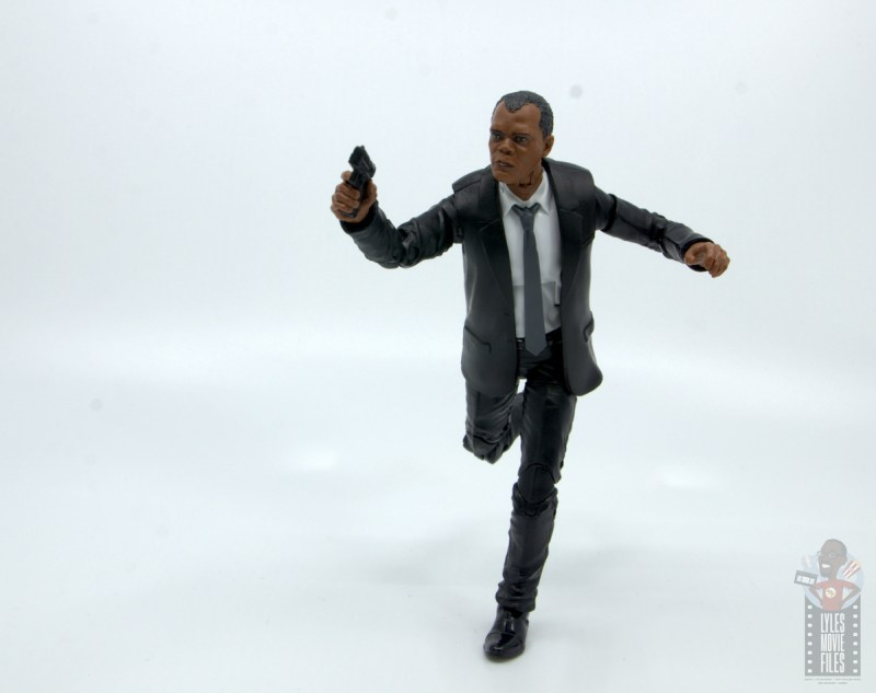 marvel legends captain marvel nick fury figure review - on the run
