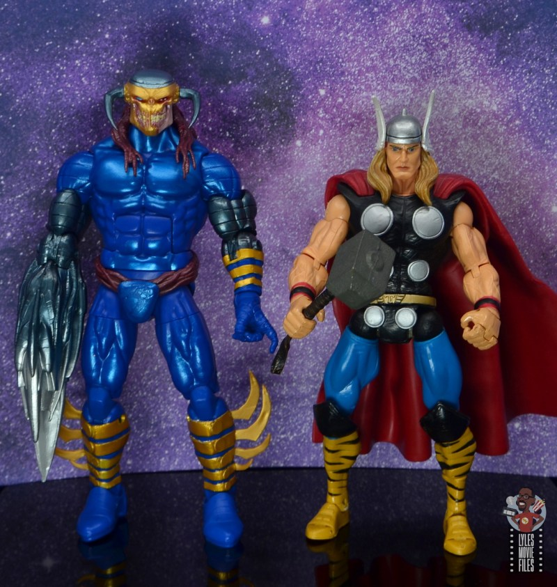 marvel legends death head ii figure review - scale with thor