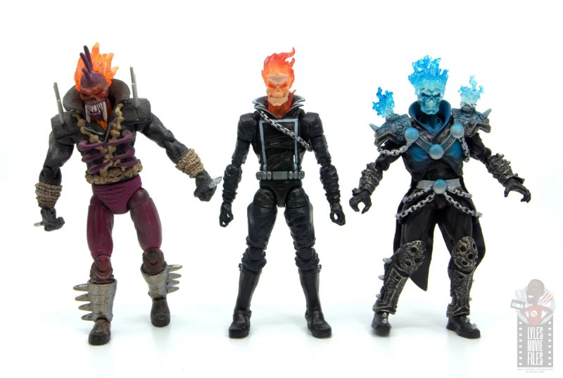 marvel legends ghost rider figure review - scale with vengeance and alternate ghost rider
