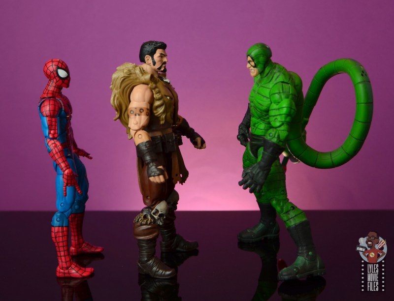 marvel legends kraven figure review - facing spider-man and scorpion