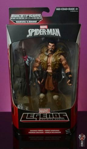marvel legends kraven figure review - package front