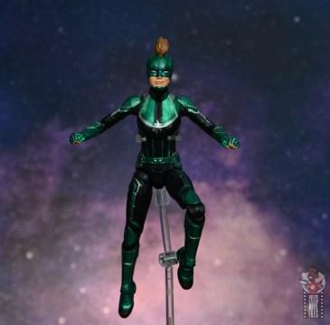 marvel legends starforce captain marvel figure review - hovering