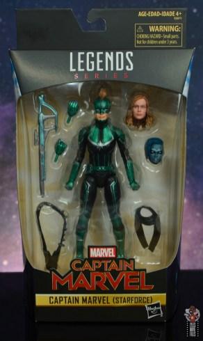 marvel legends starforce captain marvel figure review - package front
