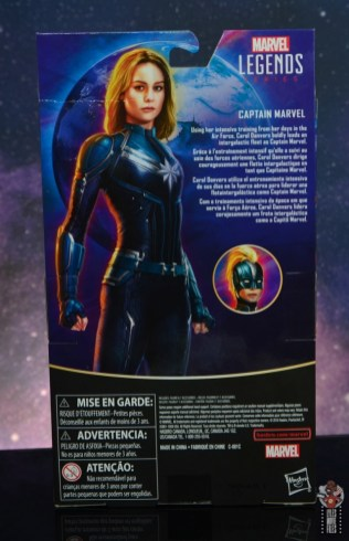 marvel legends starforce captain marvel figure review - package rear
