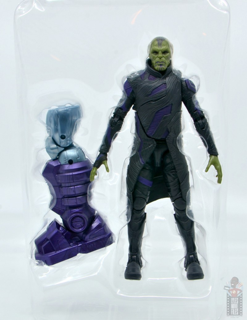 marvel legends talos figure review - accessories in tray