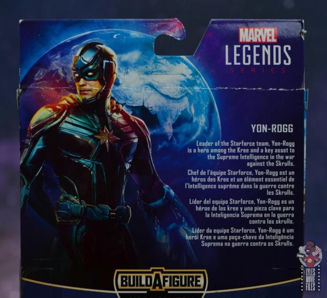 marvel legends yon-rogg figure review - package bio